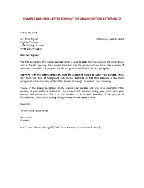letter to a business format business letter sles the best letter sle