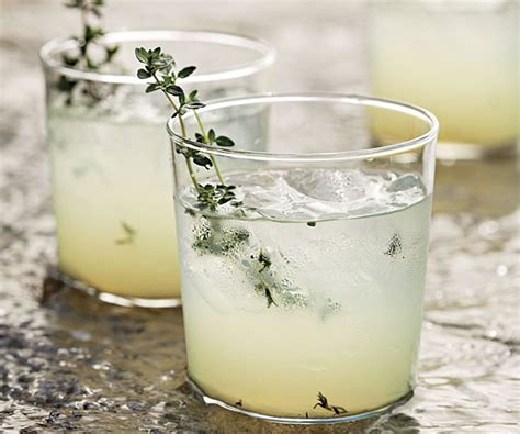 limoncello gin cocktail with grilled thyme recipe finecooking