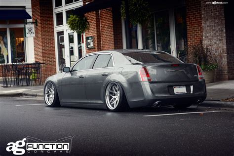 chrysler 300 aftermarket parts gray stanced chrysler 300 looking beasty with aftermarket