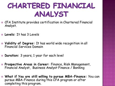 Supervisor Vs Manager Mba by Chartered Financial Analyst Vs Mba Finance