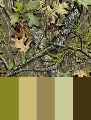 mossy oak obsession color palette camouflage wedding
