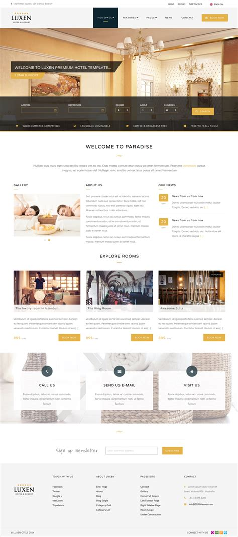 bootstrap themes hotel luxen premium hotel bootstrap template download new themes