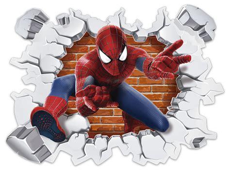 imagenes png del hombre araña agujero pared spiderman