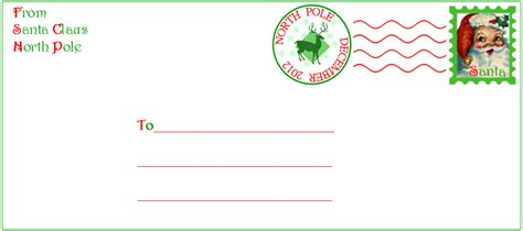 santa envelope template search results for printable santa envelope template