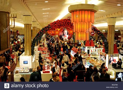 christmas store usa interior of macy s department store in new york usa decorated for stock photo royalty free