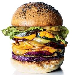 roasted veggie burgers with carrot ketchup recipe edward
