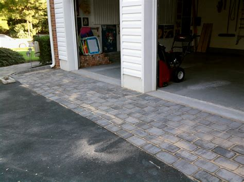 Garage Apron How To Fill In Area Between Asphalt Driveway And Paver Pad