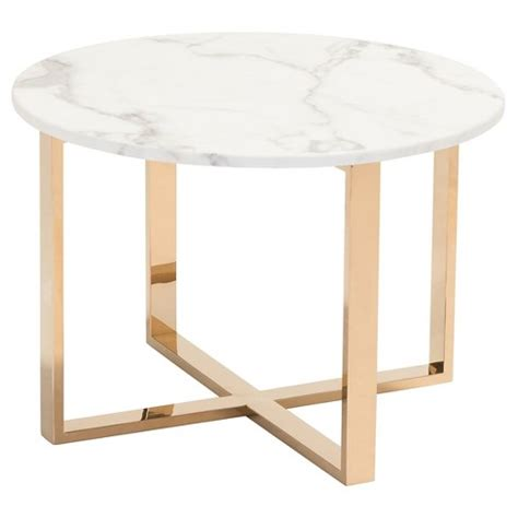 gold and marble end table modern 24 quot faux marble and stainless steel end table