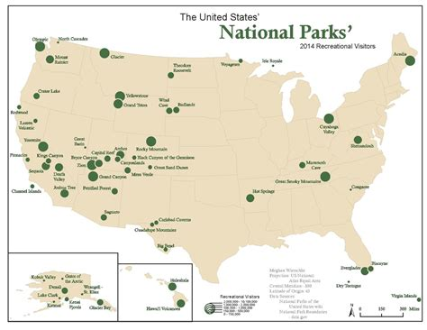 united states map with national parks united states national parks 2 fly