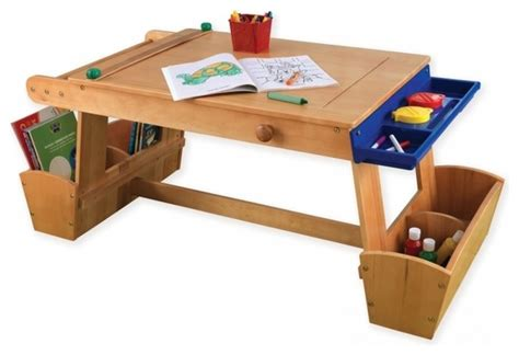 kids art table kidkraft art table with drying rack and storage