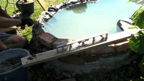 piccolo laghetto in giardino come creare un piccolo laghetto in giardino parte