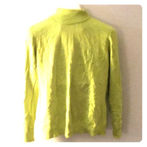 Preloved Sweater Size M 77 lands end sweaters lands end lime green turtleneck preloved m from deena s closet