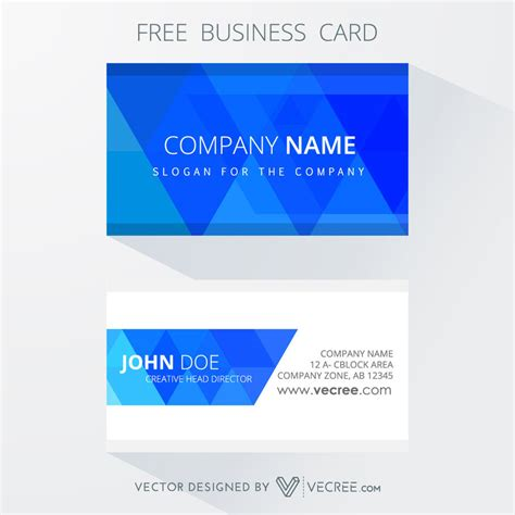 design free online business cards free corporate business card design free vector by vecree