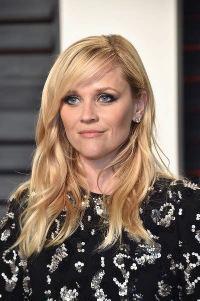 how to cut reese witherspoon bangs long wavy cut with bangs lookbook stylebistro