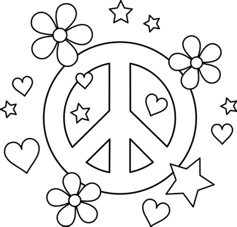 color for peace peace sign coloring pages selfcoloringpages com