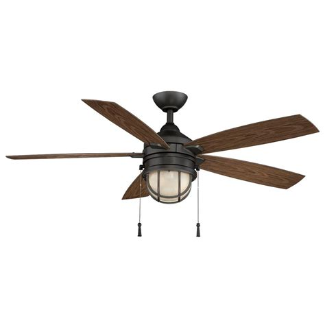 indoor outdoor ceiling fans hton bay seaport 52 in led indoor outdoor iron