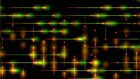 lights that pulse to music green and orange lights pulse along lines on a black