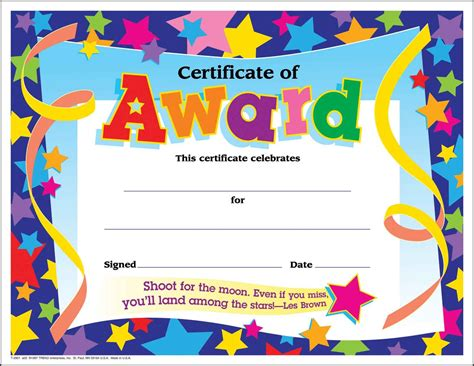 Free Templates For Awards For Students | certificate template for kids free certificate templates
