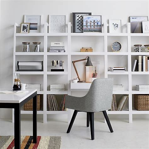 sawyer white leaning desk crate and barrel offices and
