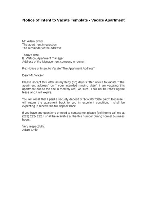 letter of moving out of apartment docoments ojazlink