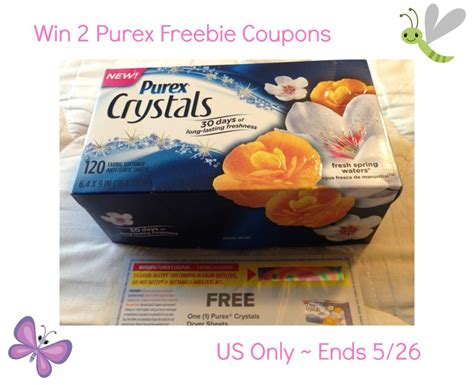 Sheets Giveaway - purex crystals dryer sheets giveaway ends 5 26 optimistic mommy