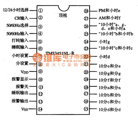 integrated circuit digital clock tms34541nl r digital clock integrated circuit diagram basic circuit circuit diagram seekic