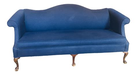 queen anne style sofa queen anne style camelback sofa chairish