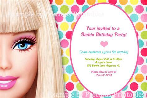 printable invitations barbie barbie invitation barbie birthday party pinterest