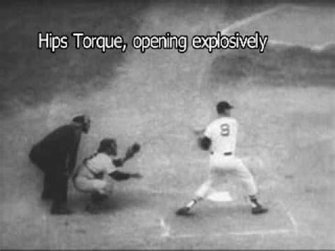 ted williams swing ted williams swing in slo motion with breakdown of