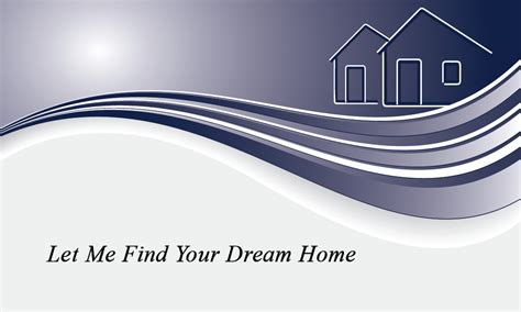 real simple design simple real estate business card design 106281