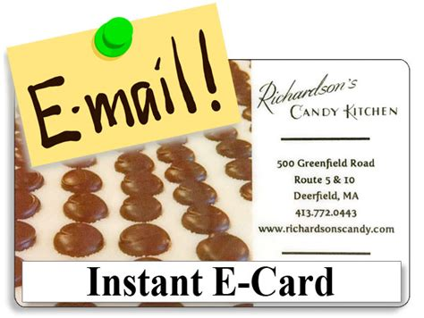 Instant Gift Cards Online - online instant e card for online purchases only gift 20 00 richardson s candy