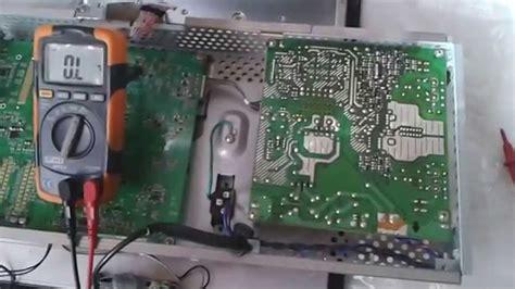 problema accensione lenta e schermo nero lg flatron m237wdp riparazione mainboard e