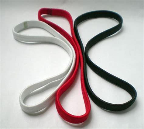 Striped Elastic Hair Band Blue how to make hair bands from elastic elastic stretch