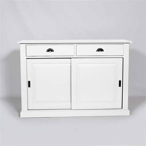 buffet portes coulissantes buffet bois blanc 2 portes coulissantes 2 tiroirs made