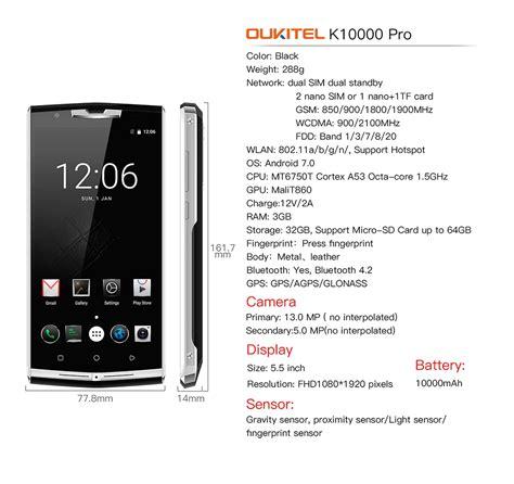 Oukitel K10000 Smartphone 5 5 In oukitel k10000 pro 5 5 inch 3gb 32gb smartphone black