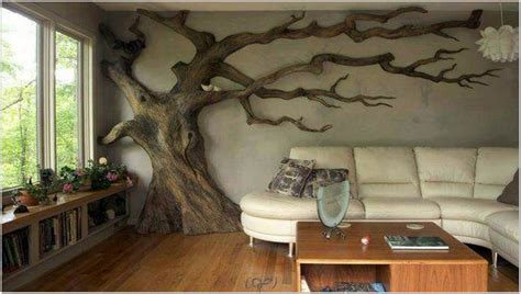 home decor tree wall painting diy room decor