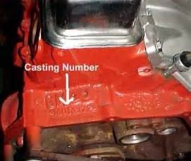 reference chevy engine block numbers chevy