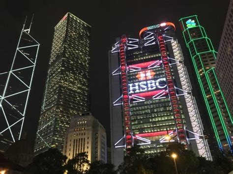 hsbc building hong kong hsbc night time picture of hsbc main building hong kong