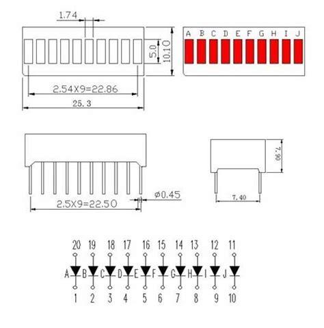 led bar graph resistors 10 segment led bar graph