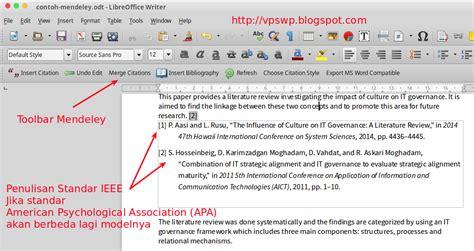 penulisan daftar pustaka harus disesuaikan dengan cara menggunakan mendeley untuk daftar pustaka dan