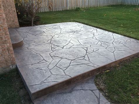 flagstone patio on concrete 17 best images about patio ideas on ontario and exposed aggregate
