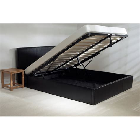 black storage bed emporia beds madrid black faux leather storage bed