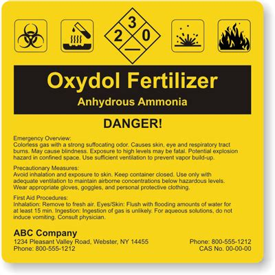 chemical label template custom hazcom labels nfpa hmis hmig ghs and ansi templates