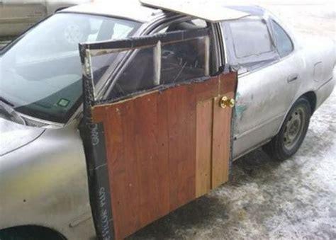 how to fix your car door use a wooden door brilliant