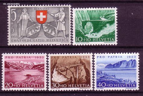 Briefmarken Schweiz Brief briefmarken schweiz michel nr 580 584 pro patria 1953
