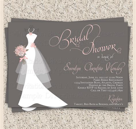 Bridal Shower Invitations Free by 25 Bridal Shower Invitation Templates Free