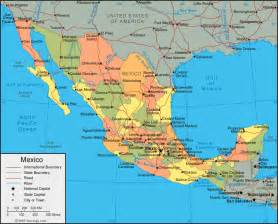 mexico map of cities geography map of mexico regional
