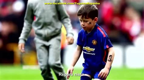 tattoo messi youtube reaction of cristiano ronaldo s son tattoo messi arm youtube