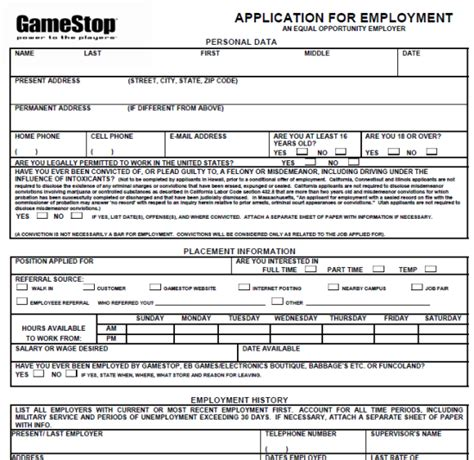 Gamestop Print Out Application Online Application Gamestop Online Application