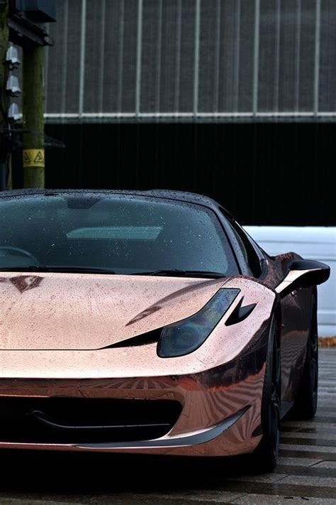 rose gold ferrari cars luxury auto board